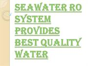 Contact Us Today for Seawater RO System