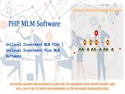Unilevel Investment Plan MLM Software - PHP MLM Sofware
