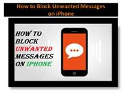 How to Block Unwanted Messages on iPhone