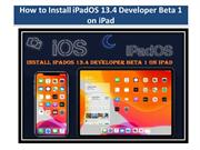 How to Install iPadOS 13.4 Developer Beta 1 on iPad