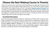 Choose the Best Makeup Course in Toronto