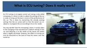 What is ECU tuning Does it really work
