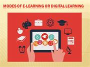 Modes of e-learning or Digital Learning
