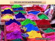 Manufacturer of Holi color, Holi gulal and Herbal gulal suppliers