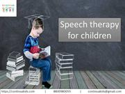 Belief of Speech therapy for children