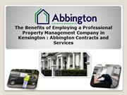 The Benefits of Employing a Professional Property Management Company i