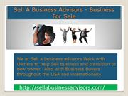 Sell A Business Advisors- Business For Sale
