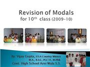 Revision of Modals