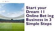 Start your Dream 11 Online Betting Business in 3 Simple Steps