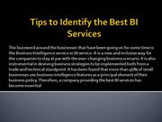 Tips to Identify the Best BI Services