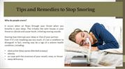 Tips and Remedies to Stop Snoring