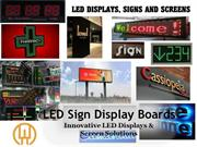 LED Sign Displays Boards- Innovative LED Displays & Screen Solutions