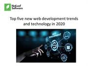 Top five new web development trends and technology in 2020