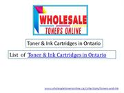 Toner & Ink Cartridges in Ontario