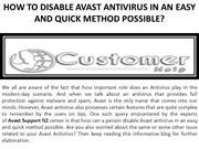 HOW TO DISABLE AVAST ANTIVIRUS IN AN EASY AND QUICK METHOD POSSIBLE