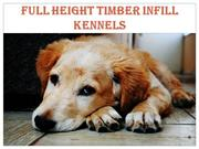 Full Height Timber Infill Kennels & River Side Puppies