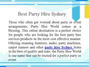Best Party Hire Sydney
