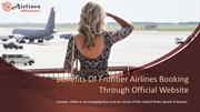 Benefits Of Frontier Airlines Booking