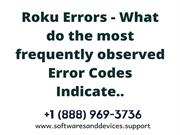 Roku Errors - What do the most frequently observed Error Codes Indicat