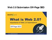 Web 2.0 Submission Off-Page SEO