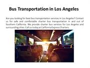 Rent a Bus Los in Angeles