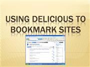 Using Delicious to bookmark sites