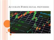 Accurate Forex signal providers