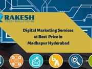 Digital Marketing services at best price in Madhapur  hyderabad ppt