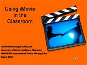 Using iMovie in the Classroom