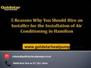 5 Reasons Why You Should Hire an Installer for the Installation of Air