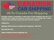 US To Canada Car Shipping
