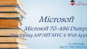 Microsoft 70-486 Dumps | PDF Key To Success | {2020}