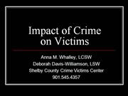 Impact of Crime on Victims