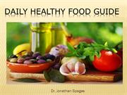 Dr. Jonathan Spages - Daily healthy Food Guide