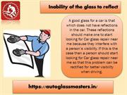 Inability of the glass to reflect