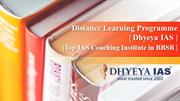 Distance Learning Programme- Dhyeya IAS- Top IAS Coaching Institute in