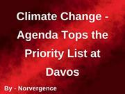 Norvergence - Climate Change Agenda Tops the Priority List at Davos