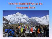 View the Beautiful Peaks at the Annapurna Massif