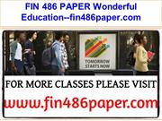 FIN 486 PAPER Wonderful Education--fin486paper.com