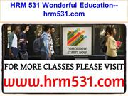 HRM 531 Wonderful Education--hrm531.com