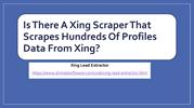 Is There A Xing Scraper That Scrapes Hundreds Of  Xing Profiles?