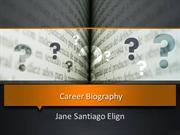 Career Biography of Jane Santiago Elgin