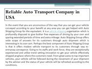 Reliable Auto Transport Company in USA