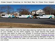 Steam Carpet Cleaning is the Best Way to Clean Your Carpet