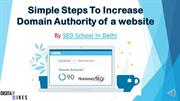 Step To Increase Domain Authority Of a Website