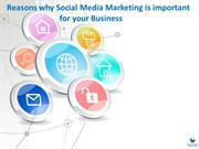 Reasons why Social Media Marketing is important  for your Business