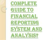 What Do you Mean by the Term Financial Reporting?