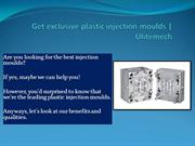 Plastic Injection Moulds for your supreme requisites | UliteMech