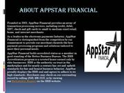 About Appstar Financial Equipments