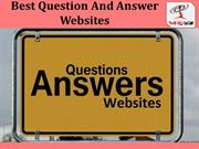Best Question And Answer Websites